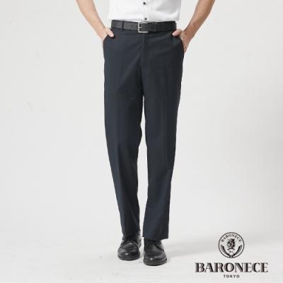 BARONECE 百諾禮士休閒商務  男裝 舒適彈性平口西裝褲--深藍色(1188858-39)