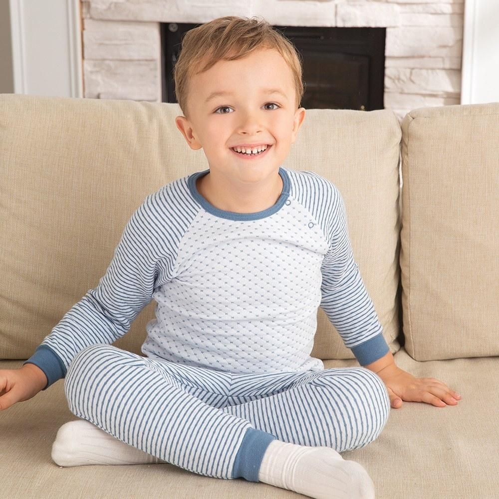 奇哥 緹花包紗側開套裝/居家服 4-5歲(2色選擇)