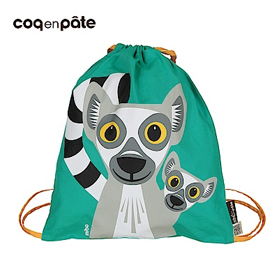 【COQENPATE】法國有機棉無毒環保布包 - 童趣輕鬆包- 狐猴