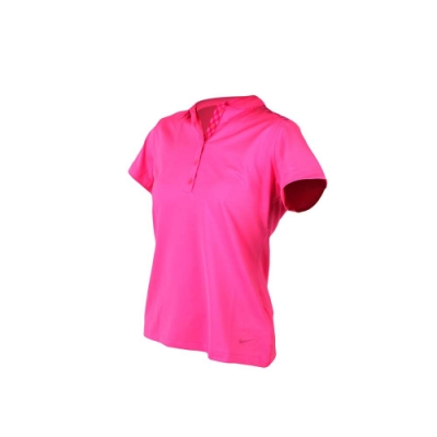 NIKE GOLF GOLF 女短袖POLO衫-吸濕排汗 高爾夫球 短T 螢光粉