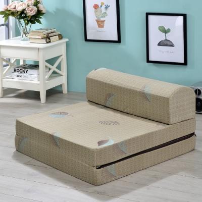 戀戀鄉 (超厚實10CM)台灣製折疊單人小沙發床(三款)床 床墊 折疊床墊