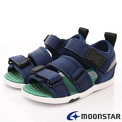 日本月星頂級童鞋 2E輕量涼鞋款 TW2275深藍(中小童段)