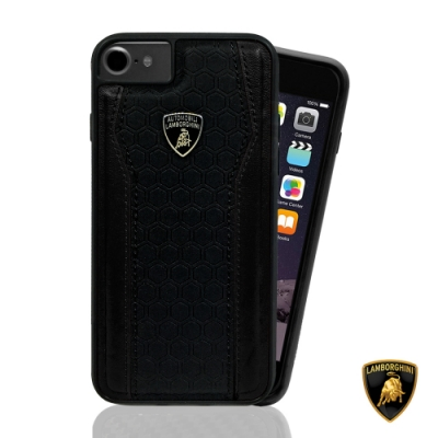 Lamborghini 藍寶堅尼 iPhone SE2 / 8 / 7 雙料貼皮背蓋 - 4色