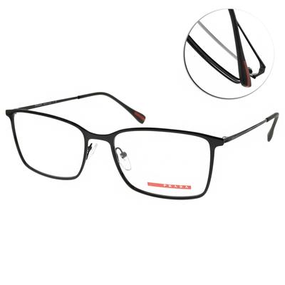 PRADA光學眼鏡 經典方框款/黑 #VPS51L 1AB-1O1