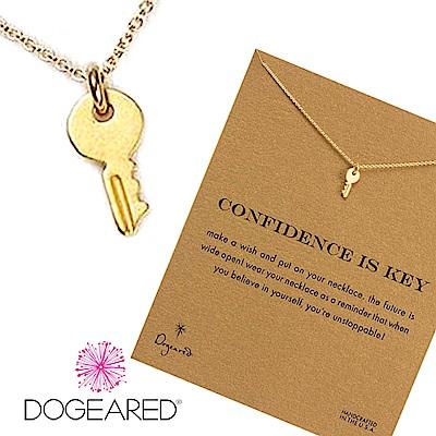 Dogeared 許願項鍊 金色鑰匙 Confidence key 充滿自信 附原廠盒