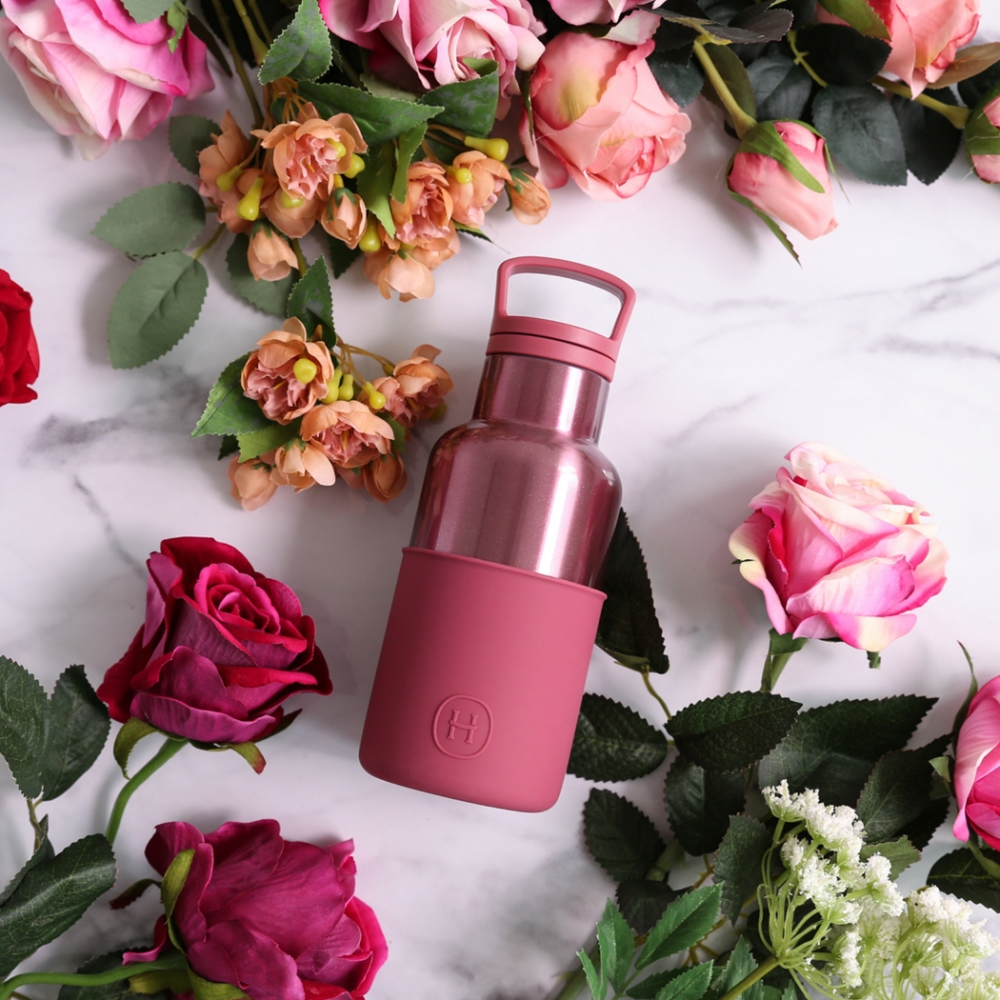 HYDY時尚水瓶CinCin Deco系列 桑格利亞-玫瑰金 不鏽鋼保溫瓶360ml