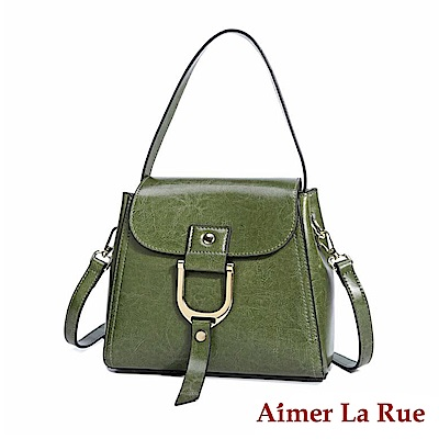 Aimer La Rue 二用側背斜背包 真皮率性真環系列