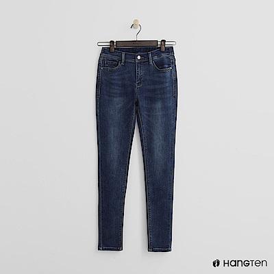 Hang Ten - 女裝 -經典刷色微彈牛仔褲-藍