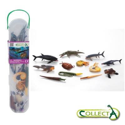 CollectA 迷你史前海洋動物組 (盒裝-12入)~英國高擬真模型R1104