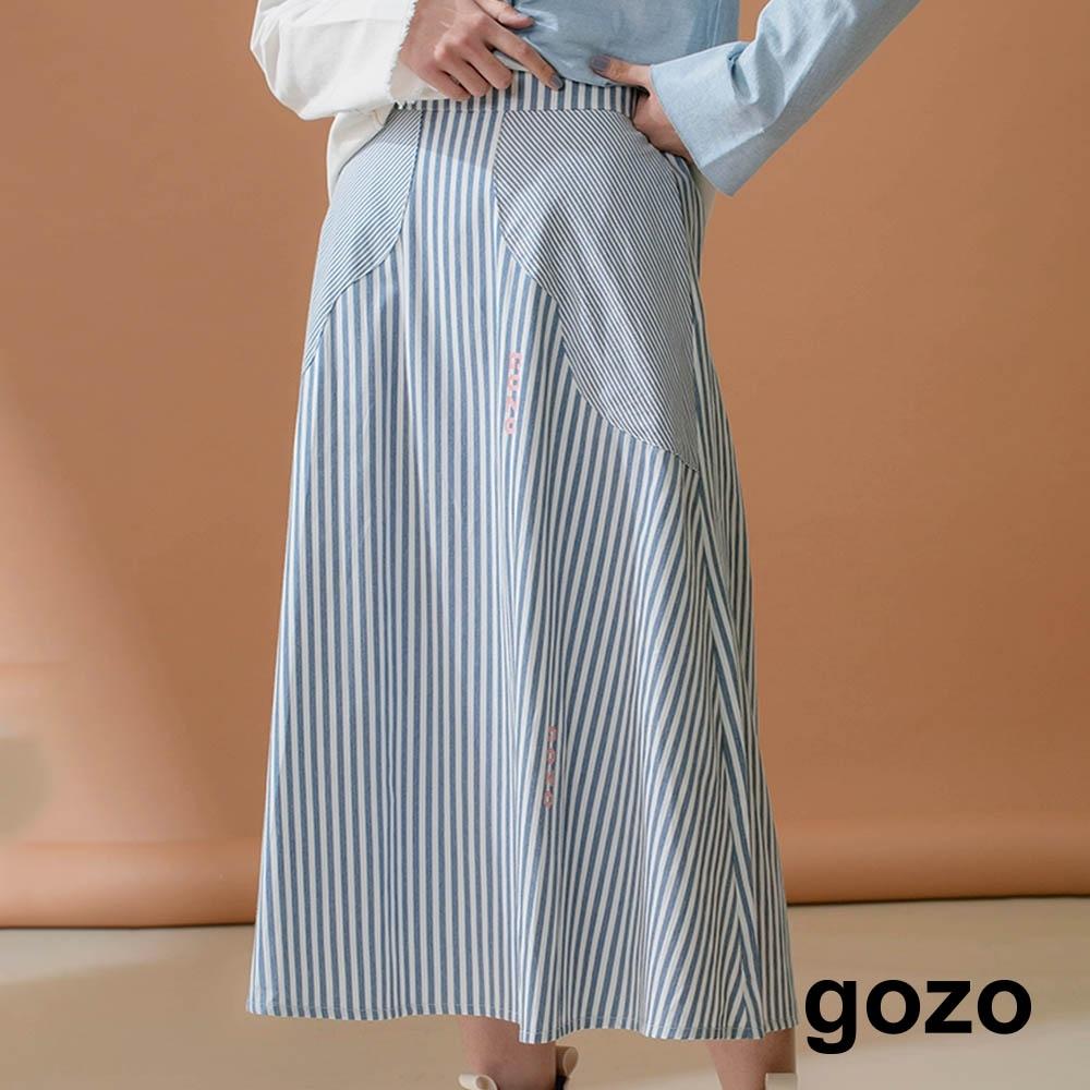 gozo-花型口袋傘擺長裙(兩色)