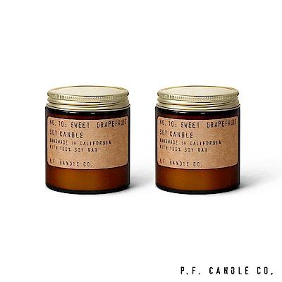 美國 P.F. Candles CO. No.10 香甜葡萄柚二入組 香氛蠟燭 99g*2