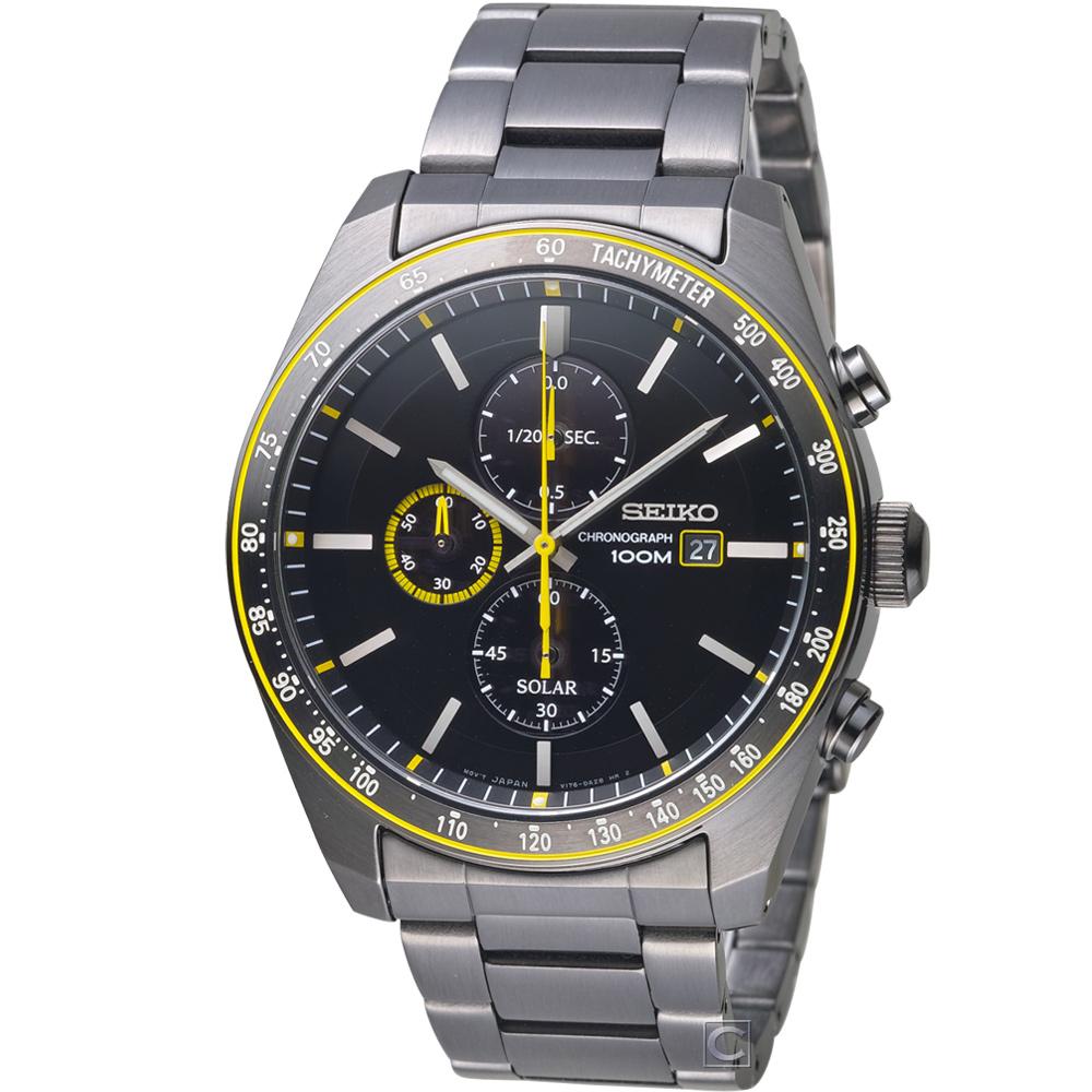 SEIKO 大黃蜂太陽能計時腕錶(SSC729P1)44mm