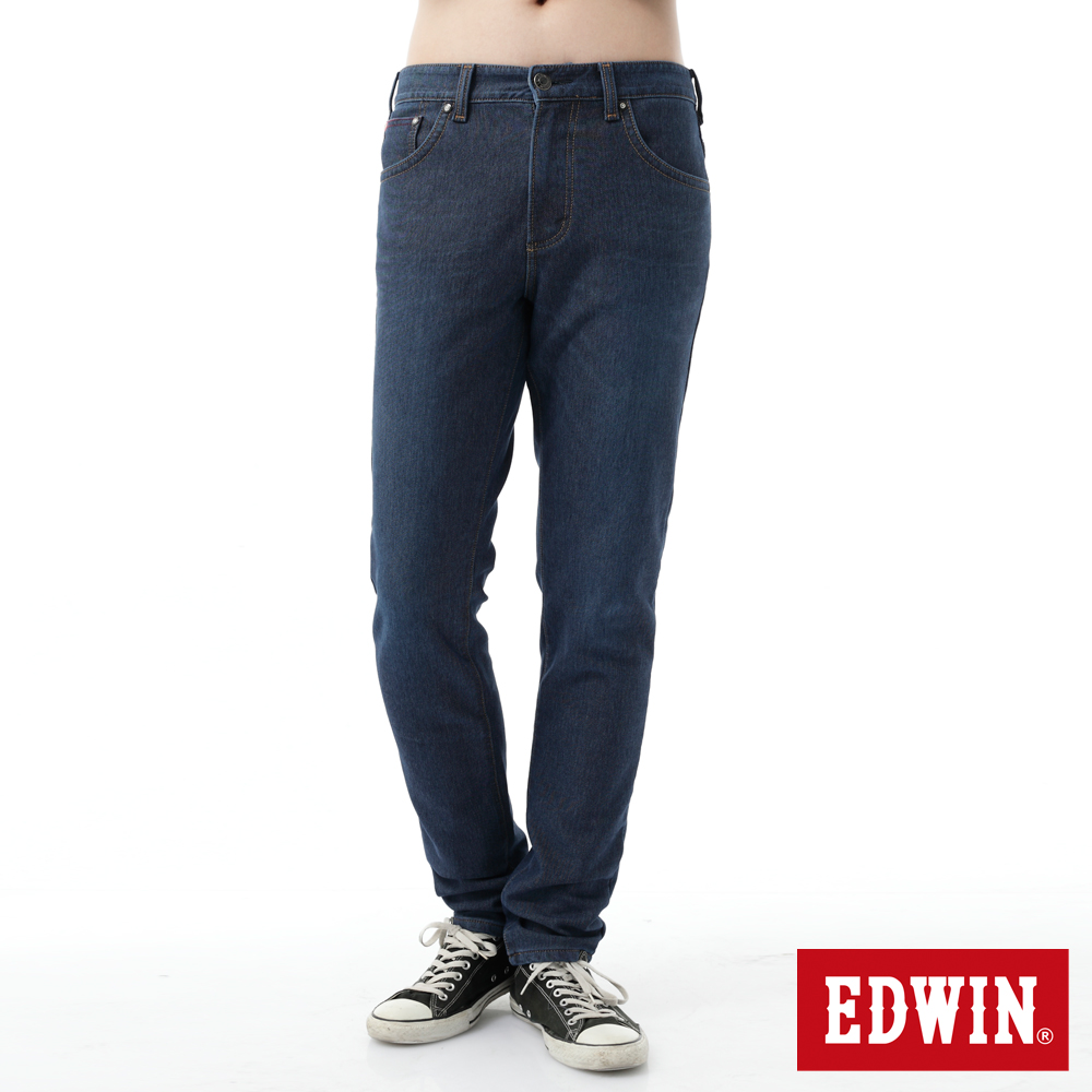 EDWIN AB褲 迦績褲格子內裏保溫褲-男-石洗綠
