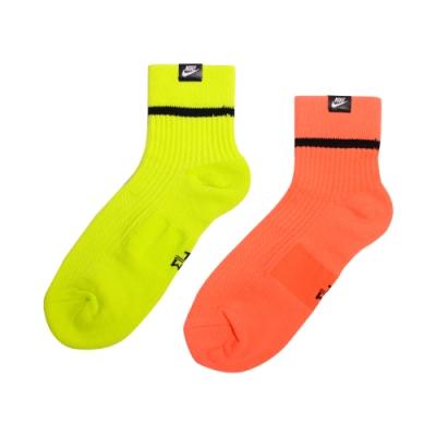 NIKE U SNKR SOX ANKLE 2PR - HI VIZ 中筒襪(兩入組) SK0262903