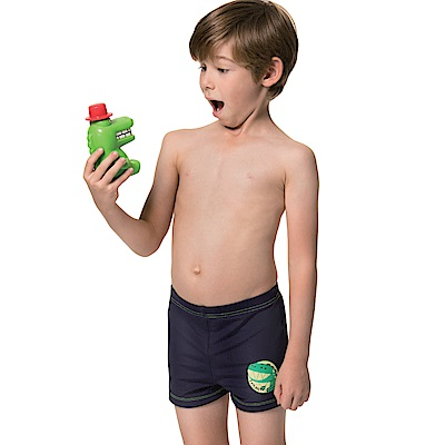 沙兒斯 兒童泳裝 卡通四角男童泳褲