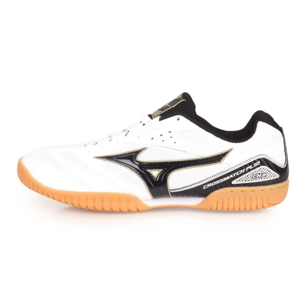 MIZUNO CROSSMATCH PLIO CN3 男桌球鞋-乒乓 白黑金