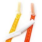 kiret透明果凍色安全兩用美體修眉刀6入(顏色隨機)