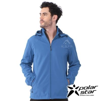 【PolarStar】男 Soft Shell保暖外套『藍』P20211
