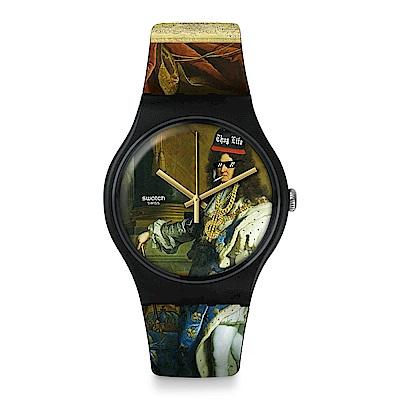 Swatch LEROICESTMOI 跨界經典-路易十四手錶
