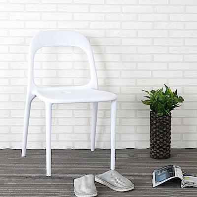 Homelike 狄克造型餐椅(純淨白)-49x51x80cm