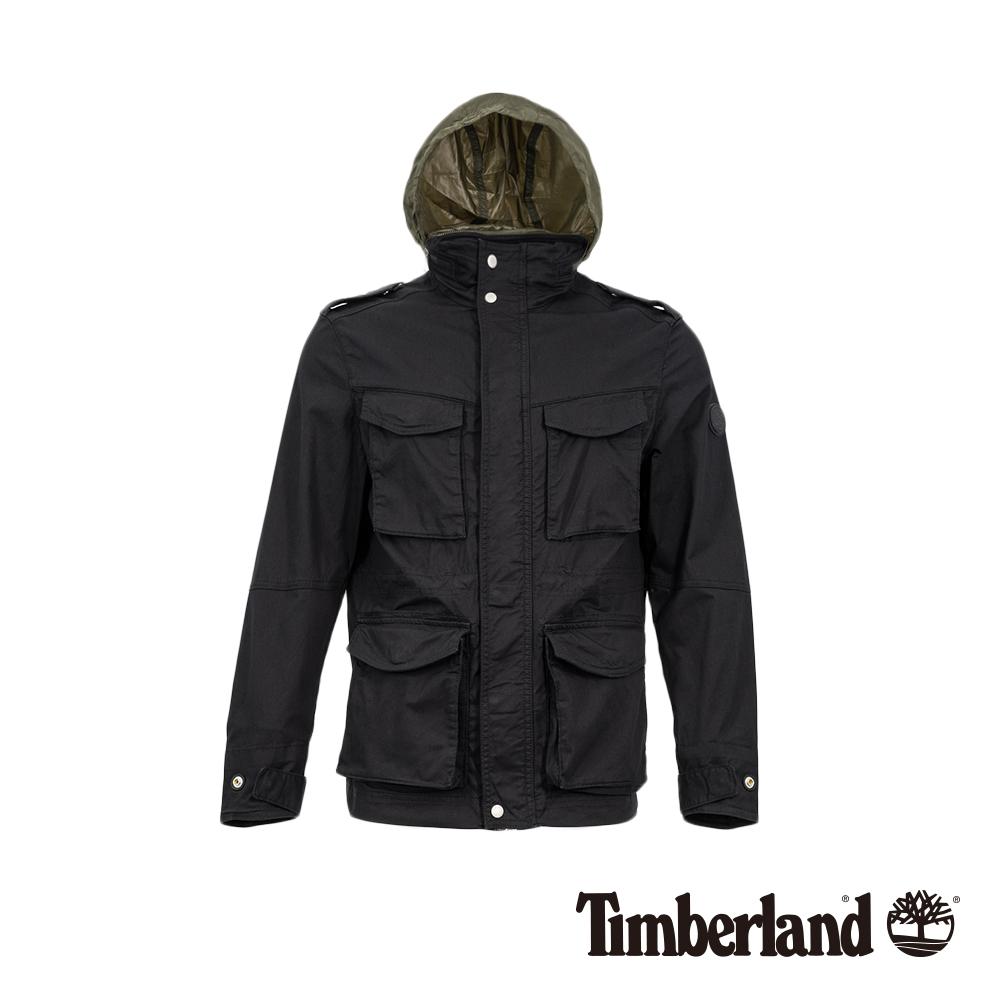 Timberland 男款橄欖綠M65斜紋布夾克|A1OIL