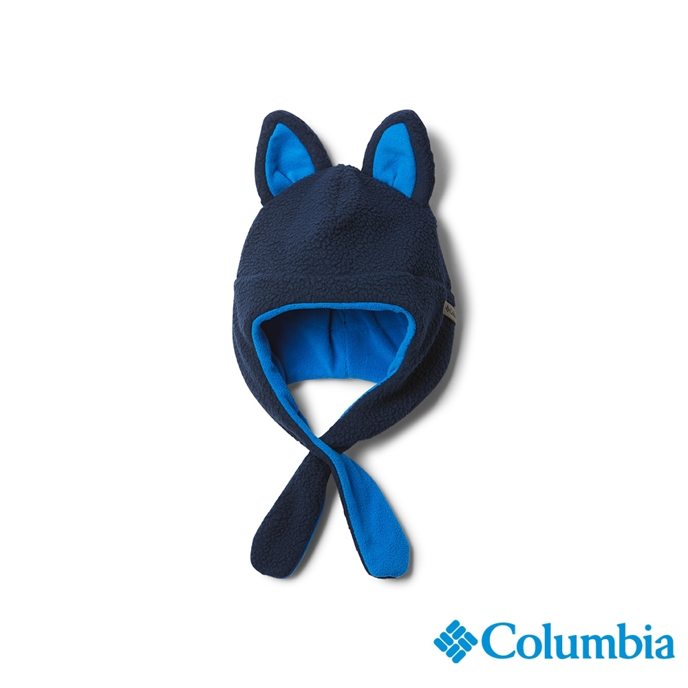 Columbia 哥倫比亞 童款-刷毛造型帽-深藍