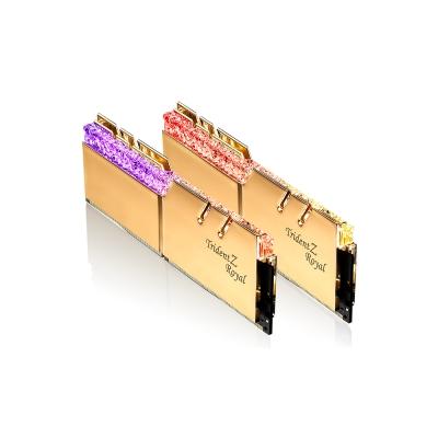 G.SKILL芝奇 Trident Z Royal 皇家戟系列(金) DDR4-3200MHz 16GB桌上型電競記憶體(8G*2)