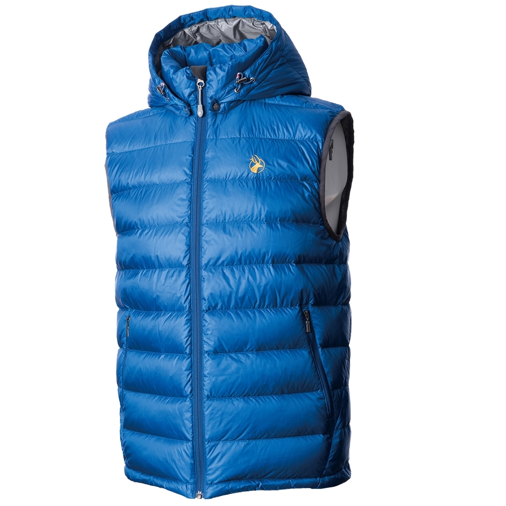 【WILDLAND荒野】男700FP拆帽極暖鵝絨背心中藍色