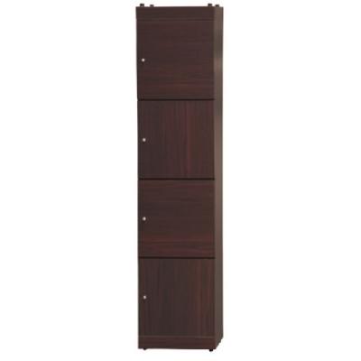 文創集 普戈1.3尺四門書櫃/收納櫃(二色可選)-40x42x175.5cm免組