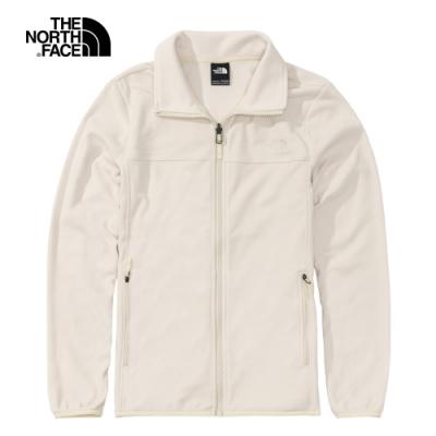The North Face北面女款米白色保暖抓絨外套|4NAQK82