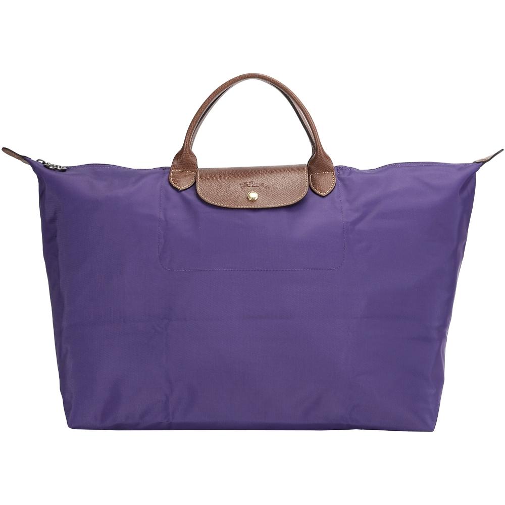 LONGCHAMP LE PLIAGE 摺疊尼龍旅行袋(L/紫色) @ Y!購物