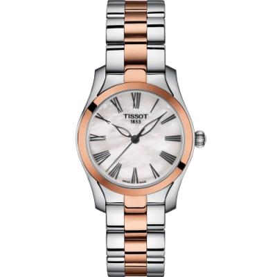 TISSOT天梭 T-Wave 優雅姿態時尚女錶(T1122102211301)30mm