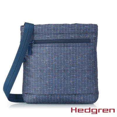 【Hedgren】INNER CITY輕量隨身 側背包-工藝印花藍