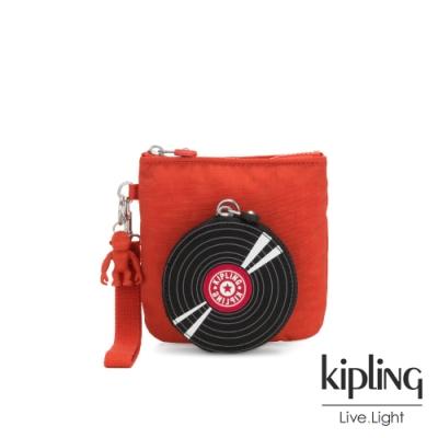 Kipling 紅黑復古唱片隨身配件包組-PLAYFULL PURSE