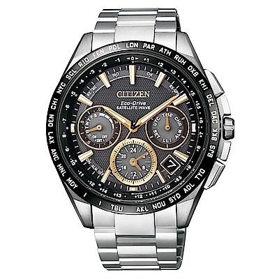 CITIZEN GPS衛星對時F900光動能鈦腕錶/黑/CC9015-54F