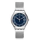 Swatch 金屬系列 BLUE ICONE 金屬-米蘭鏈帶藍面-42.7mm (L號)