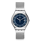 Swatch 金屬系列 BLUE ICONE 金屬-米蘭鏈帶藍面-42.7mm (S號)