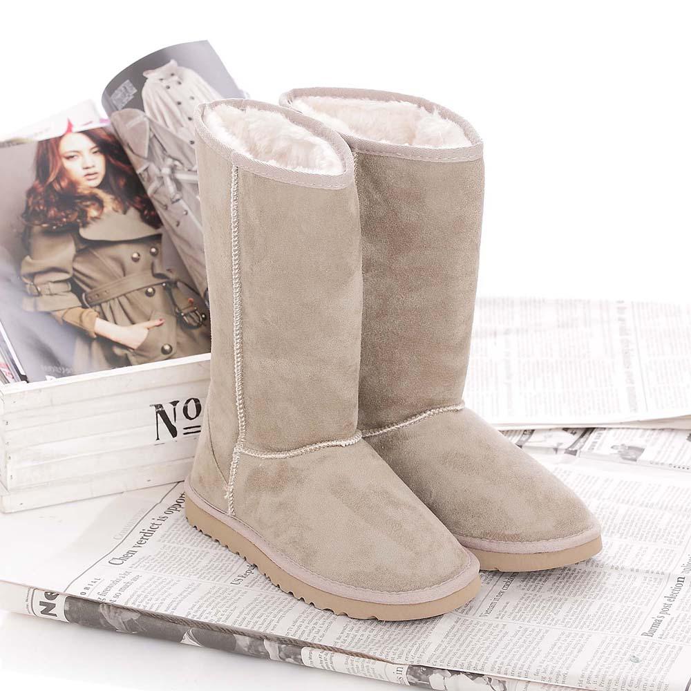 【TOP GRIL】內裡絨棉防寒雪靴-淺卡其