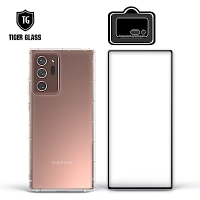 T.G Samsung Galaxy Note20 Ultra 5G 手機保護超值3件組(透明空壓殼+鋼化膜+鏡頭貼)