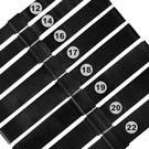 Watchband / DW替用 各品牌通用透亮米蘭編織不鏽鋼錶帶-黑色