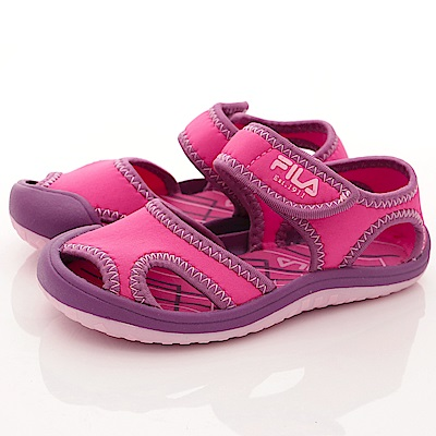 FILA頂級童鞋 輕量護趾款 FO58R-292桃紫(小童段)C