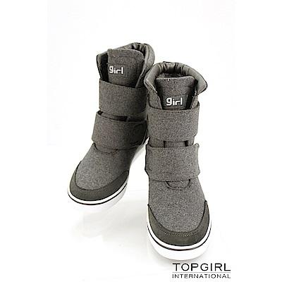 【TOPGIRL】帥氣女孩短靴-灰
