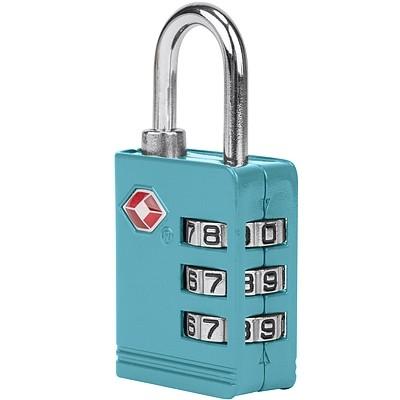 《TRAVELON》TSA三碼防盜密碼鎖(湖水藍)