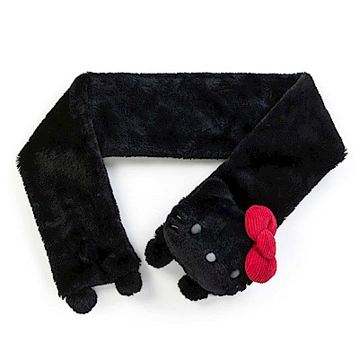Sanrio HELLO KITTY女用玩偶造型絨毛圍巾(紅蝴蝶結)