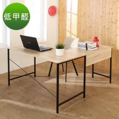 BuyJM 極簡工業風低甲醛L型工作桌/電腦桌/寬140x120x75cm
