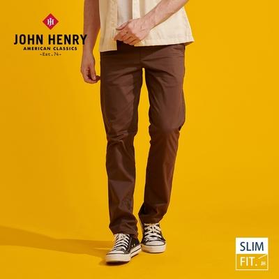【JOHN HENRY】簡約俐落修身長褲-兩色選