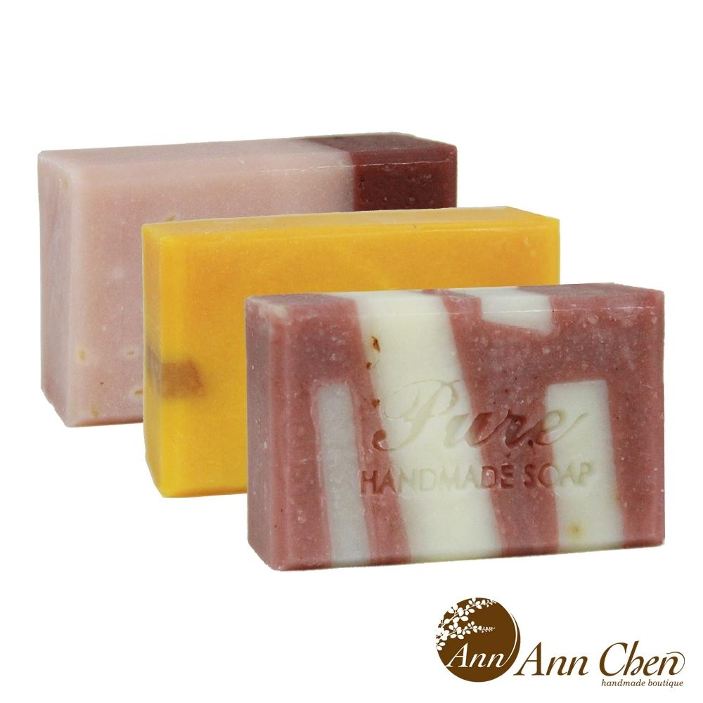 陳怡安手工皂-玫瑰燕麥杏桃呵護手工皂三入組