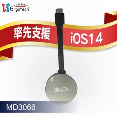 人因MD3066 電視好棒--無線HDMI同步分享棒 鋼鐵灰