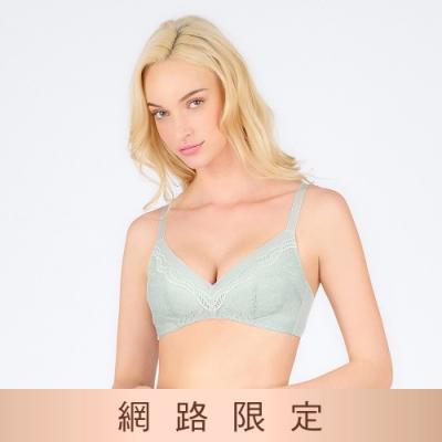 黛安芬-美型嚴選系列 包覆無鋼圈 B-D罩杯內衣 霧綠色