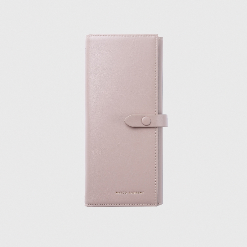 MARCO LAURENT 永恆時光三折式長夾 - 粉色